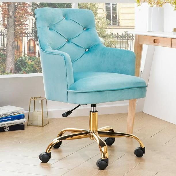 Ovios Cute Desk Chair Plush Velvet, Cute Office Chairs