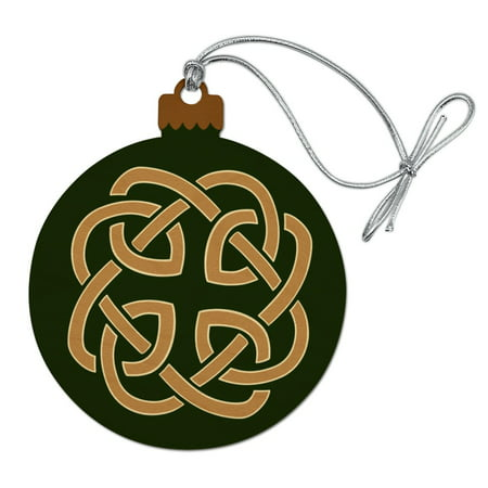 Celtic Knot Love Eternity Wood Christmas Tree Holiday Ornament