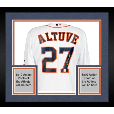 release date b51c7 f01dd Framed Jose Altuve Houston Astros Autographed White Replica Jersey -  Fanatics Authentic Certified