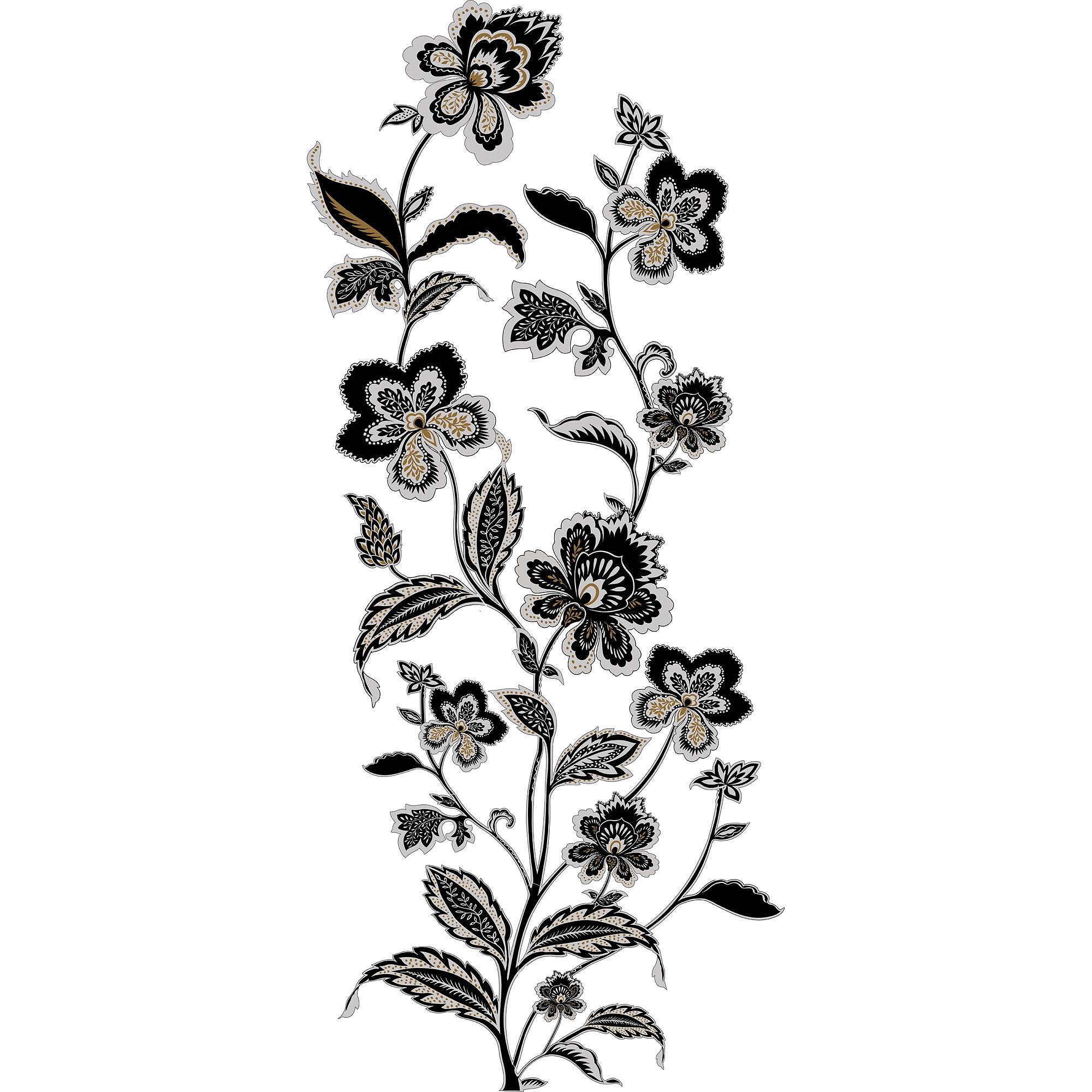 RoomMates Jazzy Jacobean Peel and Stick Wall Decals