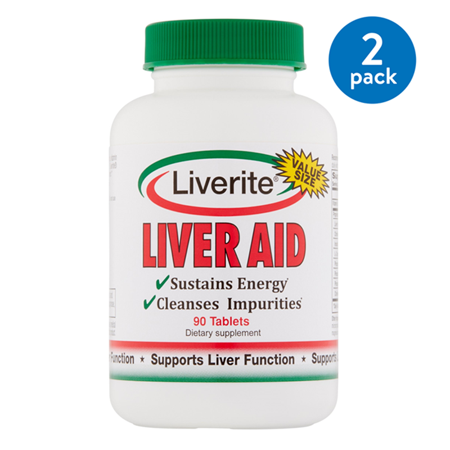 (2 Pack) Liverite Liver Aid Value Size Tablets, 90 (Liver Aid)