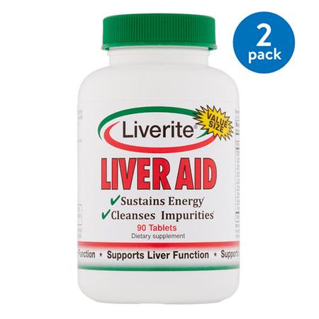 Premier Liver ((2 Pack) Liverite Liver Aid Value Size Tablets, 90)