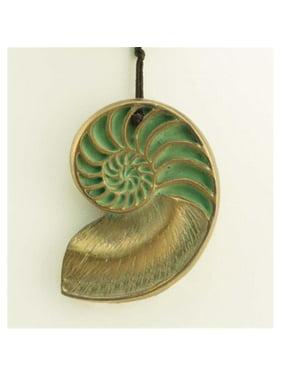 NECKLACE70B Hen-Feathers Nautilus Pendant
