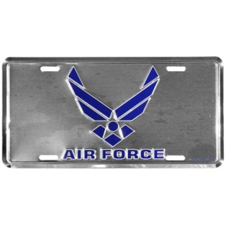 Air force wing logo on chrome license plate for Air force decoration writing