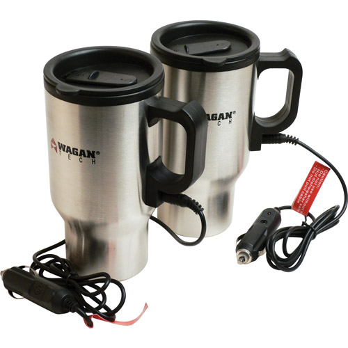 Wagan 12v Heated Travel Mug - Pair