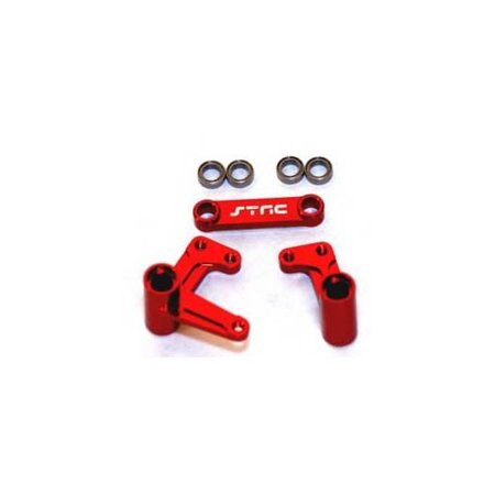 (ST Racing Concepts ST3743XR Bell Crank Set with Bearings Slash, Rustler and Bandit (Red) Multi-Colored)