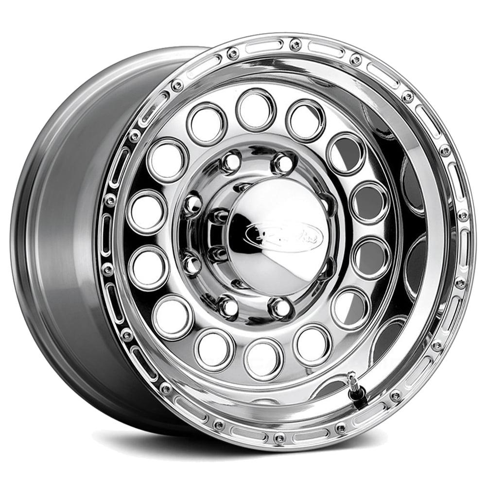 "16"" Inch Raceline 887 Rock Crusher 16x10 6x5.5"" -24mm Polished Wheel Rim"