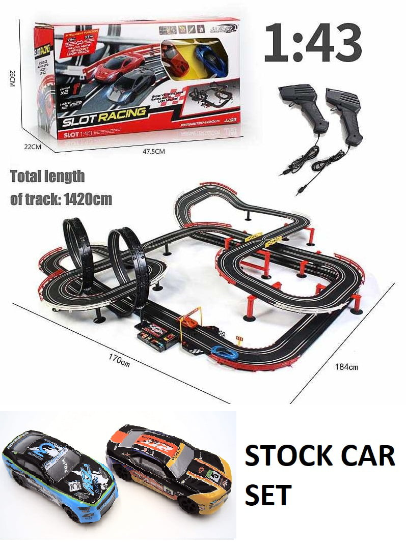 1 43 Scale Huge Slot Car Stock Car Race Set Walmart Com Walmart Com