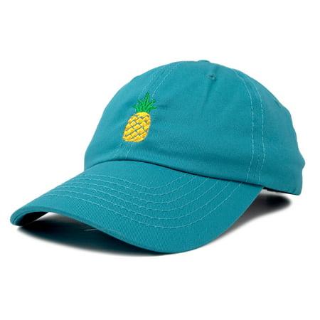 fa45006e05f DALIX Pineapple Dad Hat Cotton Twill Baseball Cap Premium Stitched Teal -  Walmart.com