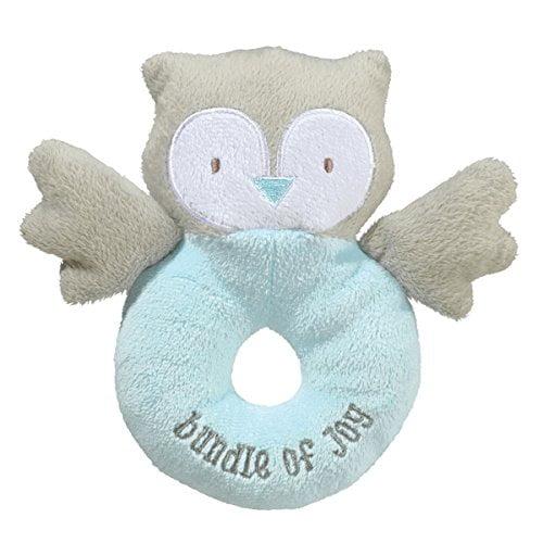 Grasslands Road Fabric Rattle Blue Owl Bundle of Joy