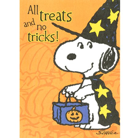 Peanuts Snoopy Halloween 'All Treats and No Tricks' Invitations w/ Envelopes (10ct) (Tool No Quarter Halloween)