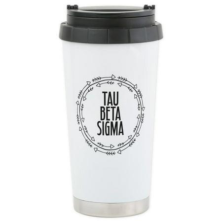 Beta Sigma Sorority - CafePress - Tau Beta Sigma Sorority Arrow Mugs - Stainless Steel Travel Mug, Insulated 16 oz. Coffee Tumbler