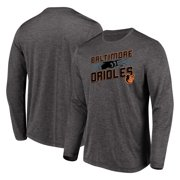 Men's Majestic Heathered Charcoal Baltimore Orioles Big & Tall Long Sleeve Team T-Shirt