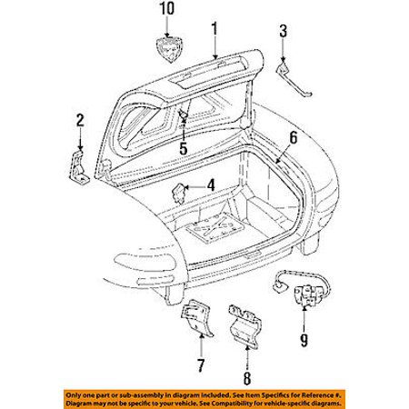 Dodge CHRYSLER OEM 92-02 Viper Trunk Lid-Support Rod