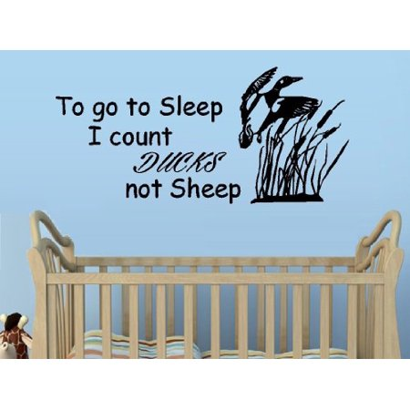 Decal ~ TO GO TO SLEEP I COUNT DUCKS NOT SHEEP #2~ WALL DECAL, HOME DECOR 13