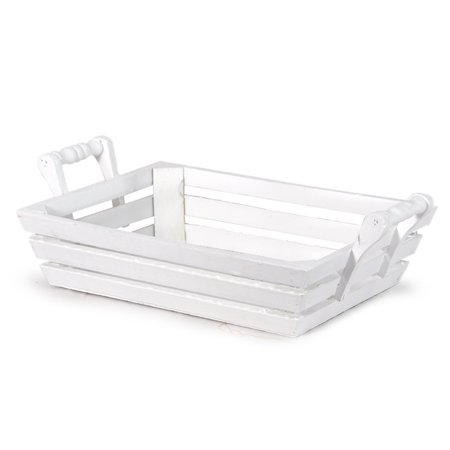 Rectangular Wood Tray with Handles - Large 11in