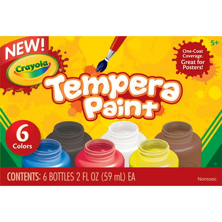 Crayola Tempera Paint Set in Classic Colors, 6 Count