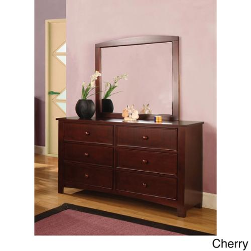 Furniture of America Paraiba 2-Piece Dresser and Mirror Set Cherry