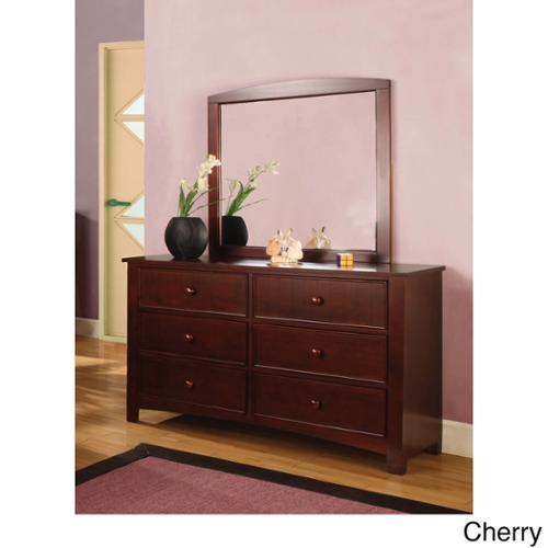 Furniture Of America Paraiba 2 Piece Dresser And Mirror Set Cherry