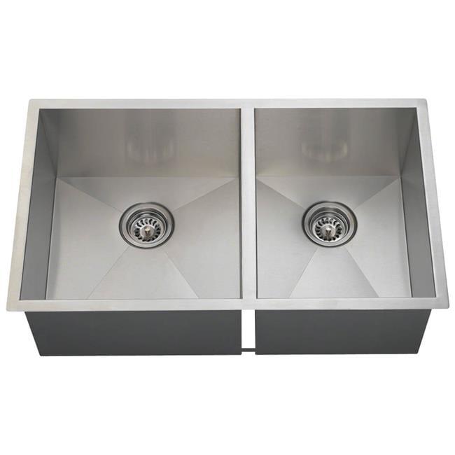 Polaris Sink POL2233 Double Rectangular Stainless Steel - Brushed Satin - image 1 of 1