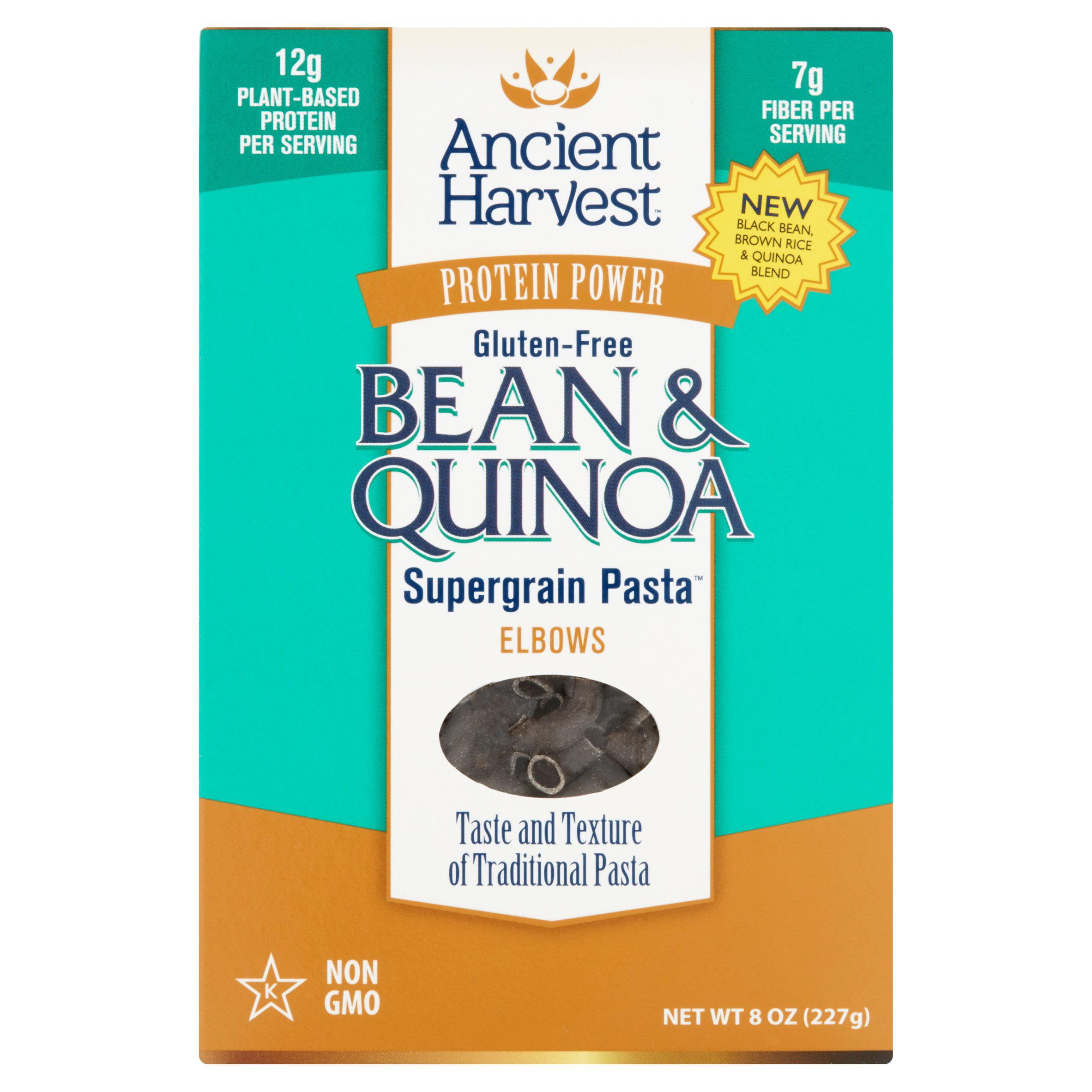 Ancient Harvest Supergrain Pasta Elbows Bean & Quinoa, 8 oz, 6 pack by Quinoa Corporation