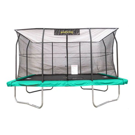 Jumpking 10 X 14 Foot Rectangular Trampoline With Safety Net Siding   Jkrc1014c2
