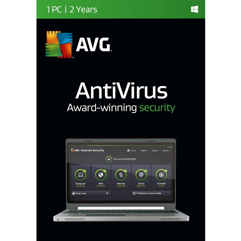 Software Software AntiVirus AVG, 1 usuario / 2 años + AVG en Veo y Compro