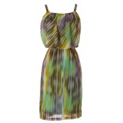 PRIORITIES Women's Striped Ruched Poly Dress Multicolored