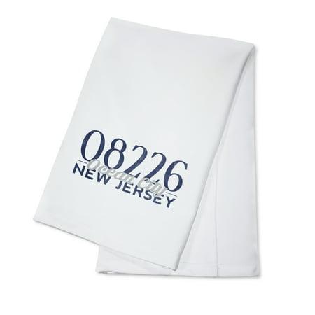 Ocean City, New Jersey - 08735 Zip Code (Blue) - Lantern Press Artwork (100% Cotton Kitchen Towel)