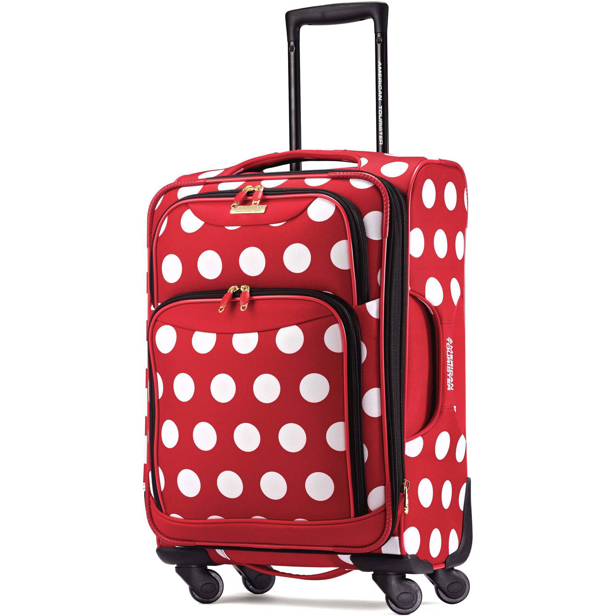 American Tourister Disney Minnie Mouse Polka Dot Spinner Soft Side Suitcase