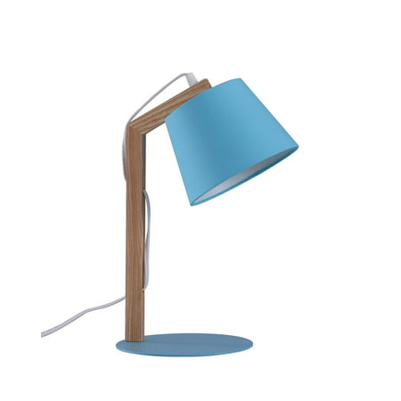 Better Homes & Gardens - Wooden Task Lamp - Blue Finish