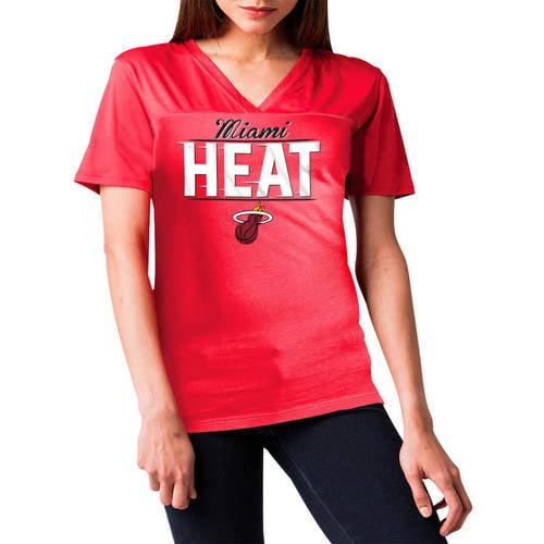 NBA Miami Heat Women's Short Sleeve Polyester V-Neck Tee