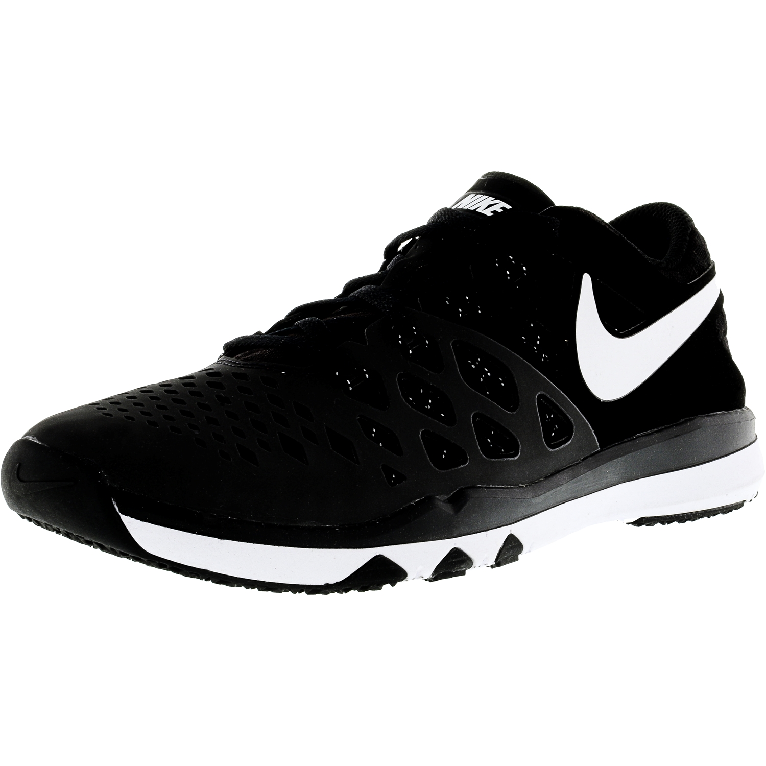 Nike Men's Train Speed 4 Black / White-Black Ankle-High Fabric Training Shoes - 11M