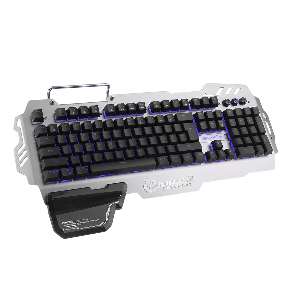 LED Wired Gaming Keyboard, Mechanical Feeling USB Keyboard with Backlight Rainbow RGB Multicolor Water-Resistant Adjustable Illuminated Computer Keyboard for PC Games Office