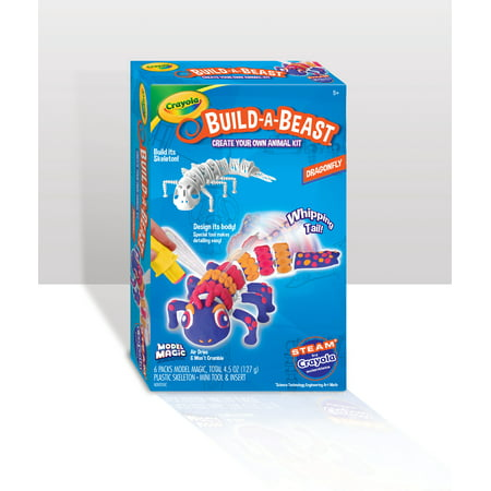 Crayola Build-a-Beast Model Magic Kit for Dragonfly Model Magic Craft Pack