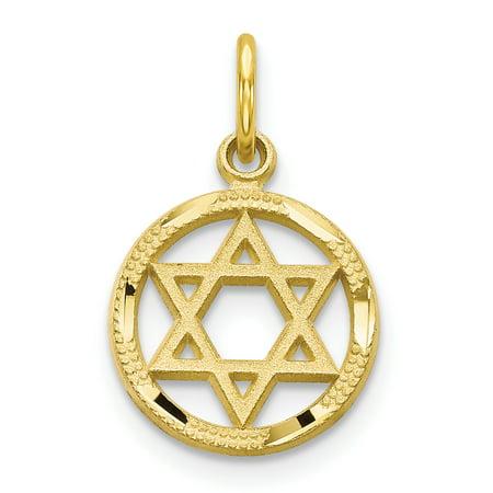 10k Yellow Gold Jewish Jewelry Star Of David Pendant Charm Necklace Religious Judaica Fine Jewelry For Women Gift - Jewish Halloween