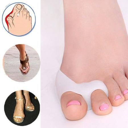 1Pair Gel Toe Bunion Corrector Toe Separators Hallux Valgus Toe Straightener Alignment (Toe Block)