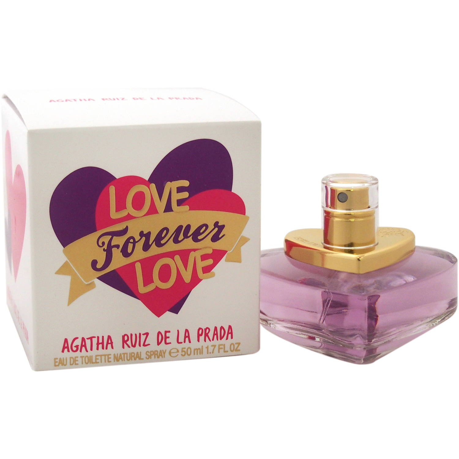 Image of Agatha Ruiz De la Prada Love Forever Love EDT Spray, 1.7 fl oz