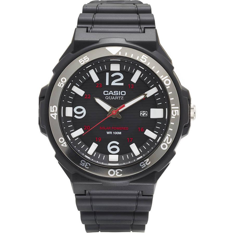 Casio Men's Solar-Powered Analog Watch, Black