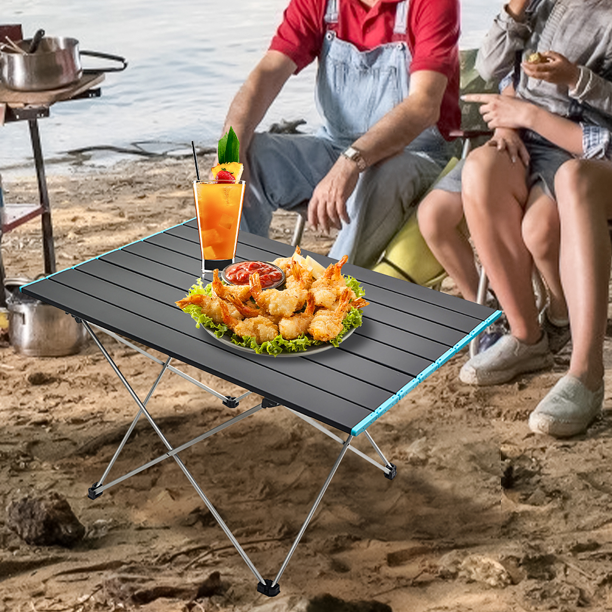 Folding Table4-in-1 Pack-Away Camping Table Details about  /New