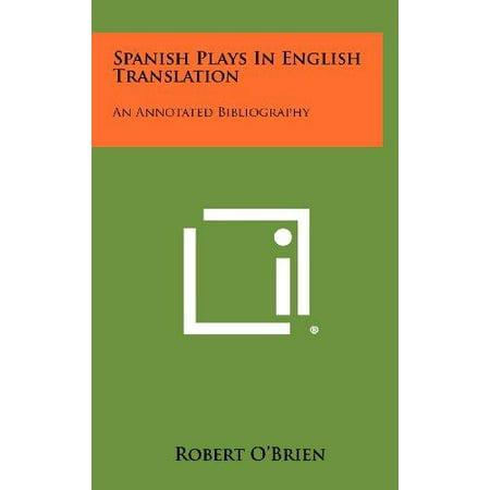 Spanish Plays In English Translation