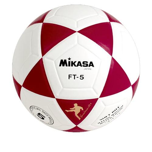 Mikasa FT5 Soccer Ball, Size 5, Red/White