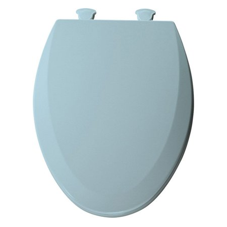 Bemis B500EC464 Round Closed Front Molded Wood Toilet Seat with Easy Clean; Change Hinge in Dresden Blue