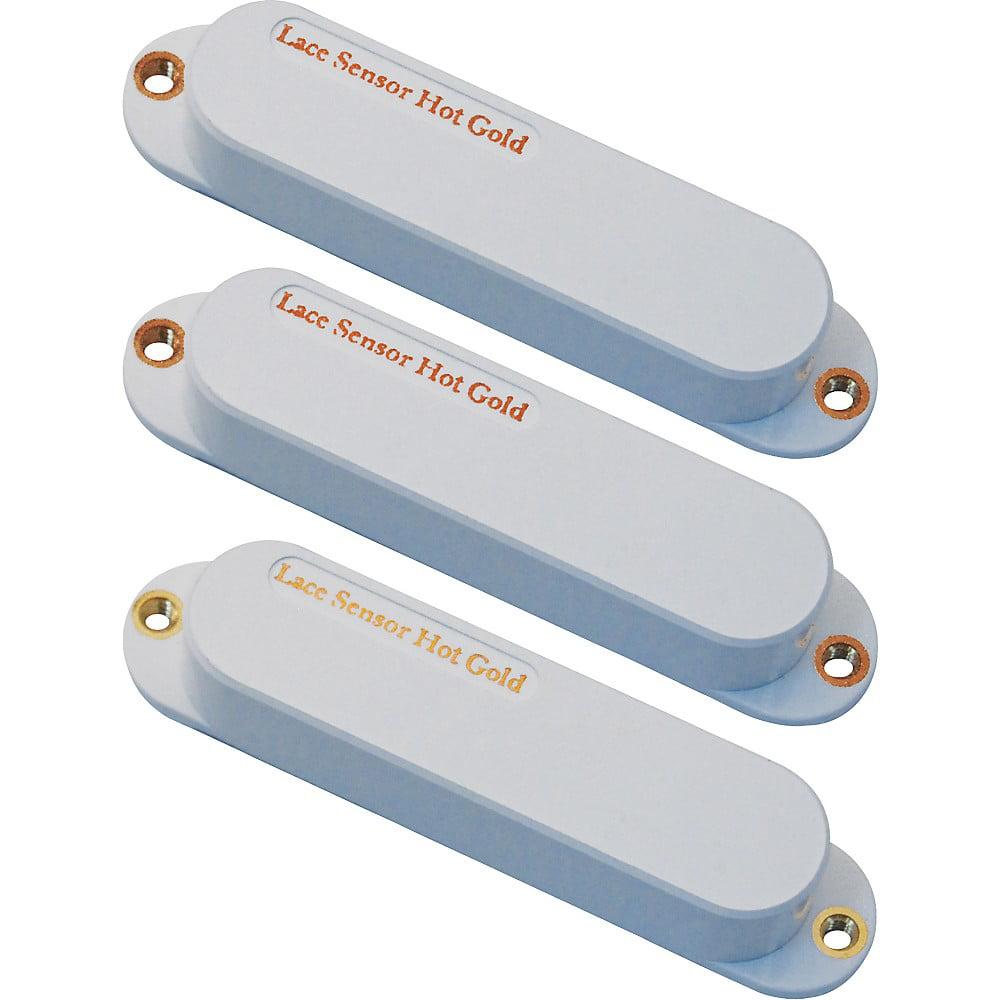 Lace Hot Gold SSS Single-Coil Strat Guitar Pickup Set Bridge 13.2k Matte Black