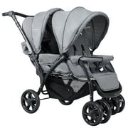 Foldable Double Baby Stroller Lightweight Front & Back Seats Pushchair