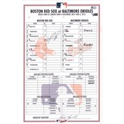 David Ortiz Boston Red Sox Autographed Game-Used Lineup Card vs. Baltimore Orioles on June 2, 2016 - Fanatics Authentic Certified
