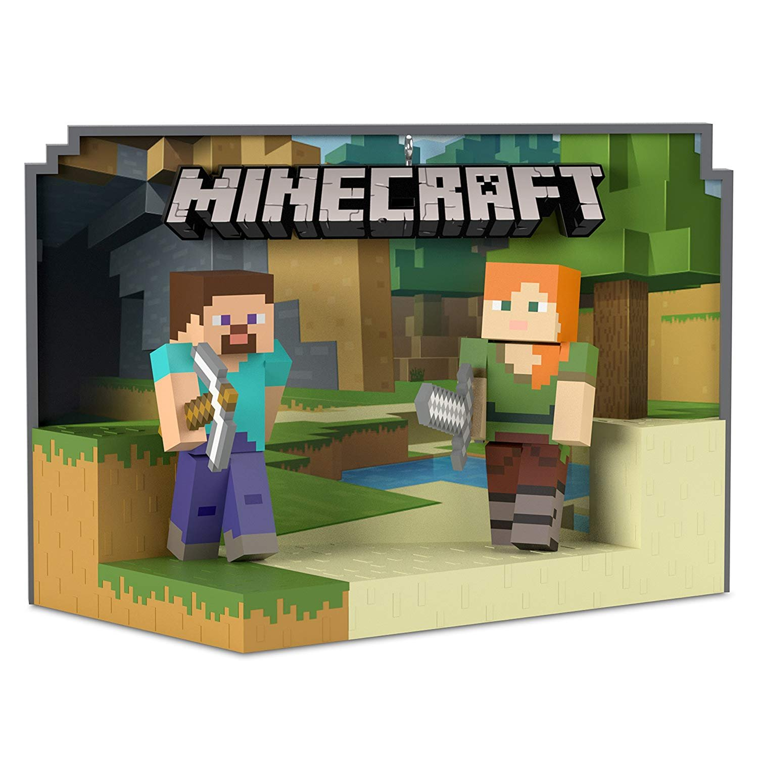 Hallmark Minecraft Steve and Alex Ornament Hobbies & Interests,Teen,Toys & Gaming