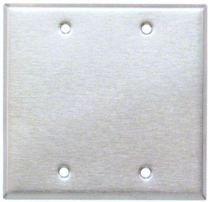 Stainless Steel Metal Wall Plates 2 Gang Blank