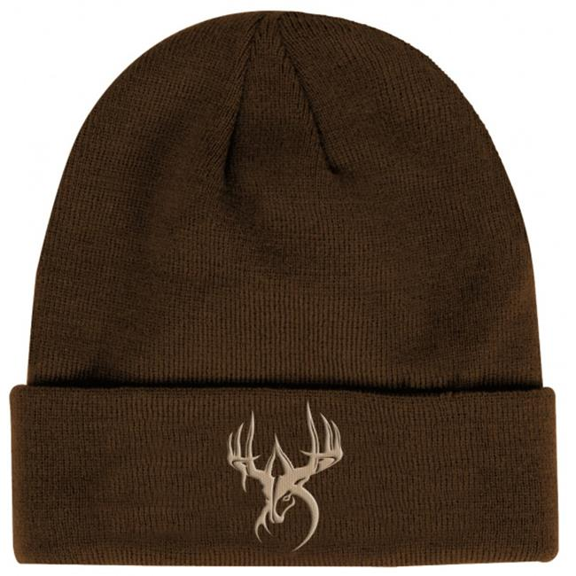 Fierce WG-BN-BP Wildgame Innovations Brown with Pink logo knit beanie
