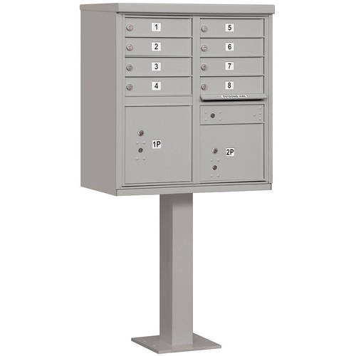 Salsbury Industries Cluster Box Unit (Includes Pedestal), 8 A Size Doors, Type I, USPS Access
